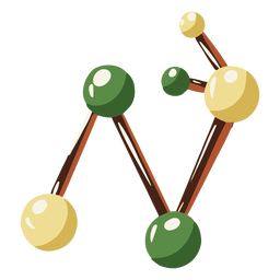 Science molecules illustration