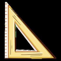 Set square ruler illustration