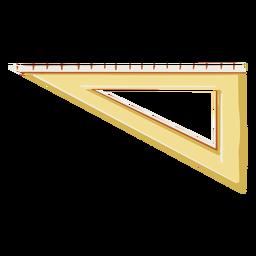 Establecer ilustración de la escuela de regla cuadrada
