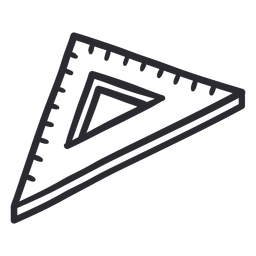 Set square ruler stroke