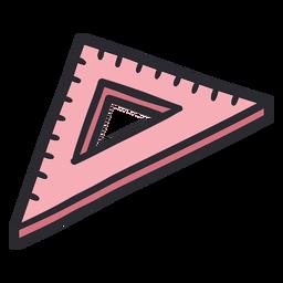 Establecer color de trazo de regla cuadrada