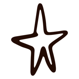 Simple star hand drawn