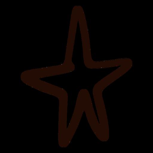 Dibujado a mano estrella simple