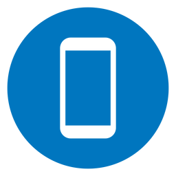 Icono de smartphone azul