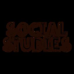 Letras de estudos sociais