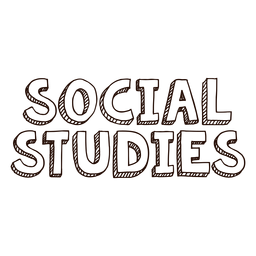 Social studies lettering