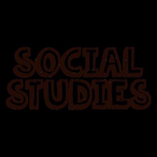 Letras de estudios sociales