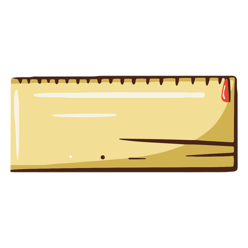 Ilustración de caja de lápices cuadrada