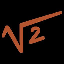 Raíz cuadrada de 2 garabatos