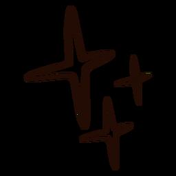 Estrelas simples desenhadas à mão