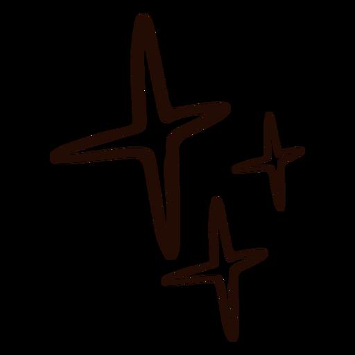 Estrellas dibujadas a mano simple Transparent PNG