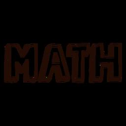 Letras de matemática de assunto