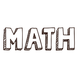 Subject math lettering