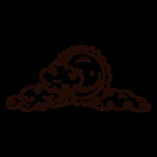 Dibujado a mano nubes sol