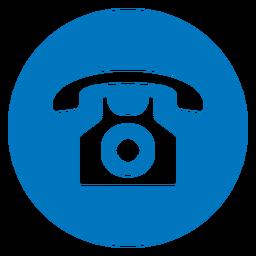 Ícone de telefone azul