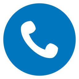 Telephone handset blue icon