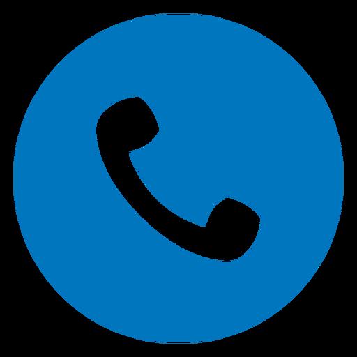 Icono de auricular de teléfono azul