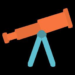 Ícone de plana dispositivo telescópio