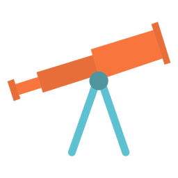 Telescope device flat icon