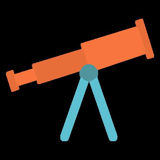 Icono plano del dispositivo telescopio