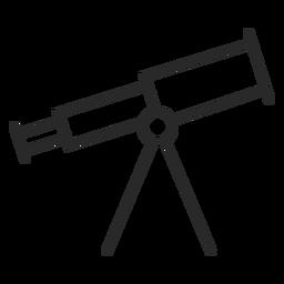 Icono de trazo de dispositivo de telescopio