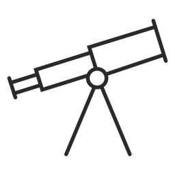 Telescope device stroke icon