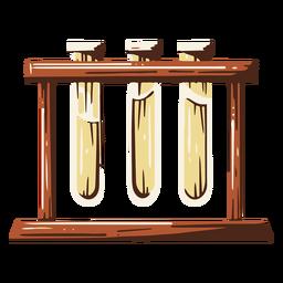 Test tube rack illustration