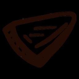 Triángulo forma doodle triángulo
