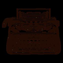 Máquina de escribir máquina de escribir dibujada a mano