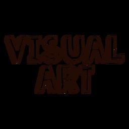 Letras de arte visual
