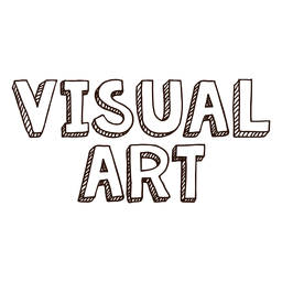 Visual art lettering
