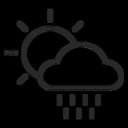 Icono de trazo meteorológico
