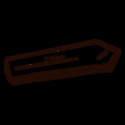 Doodle de flecha de madera