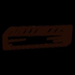 Rechteckiges Prisma-Gekritzel aus Holz