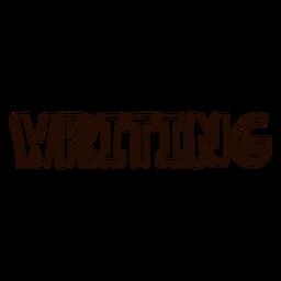 Writing schoollettering