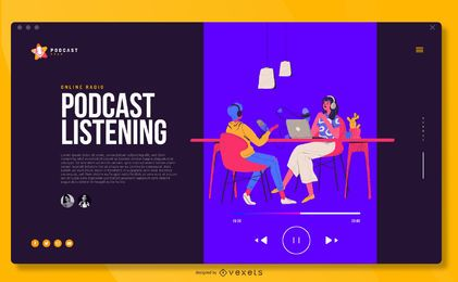 Podcast Illustration Fullscreen Cover Design