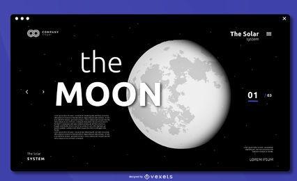 Diseño de portada de pantalla completa The Moon