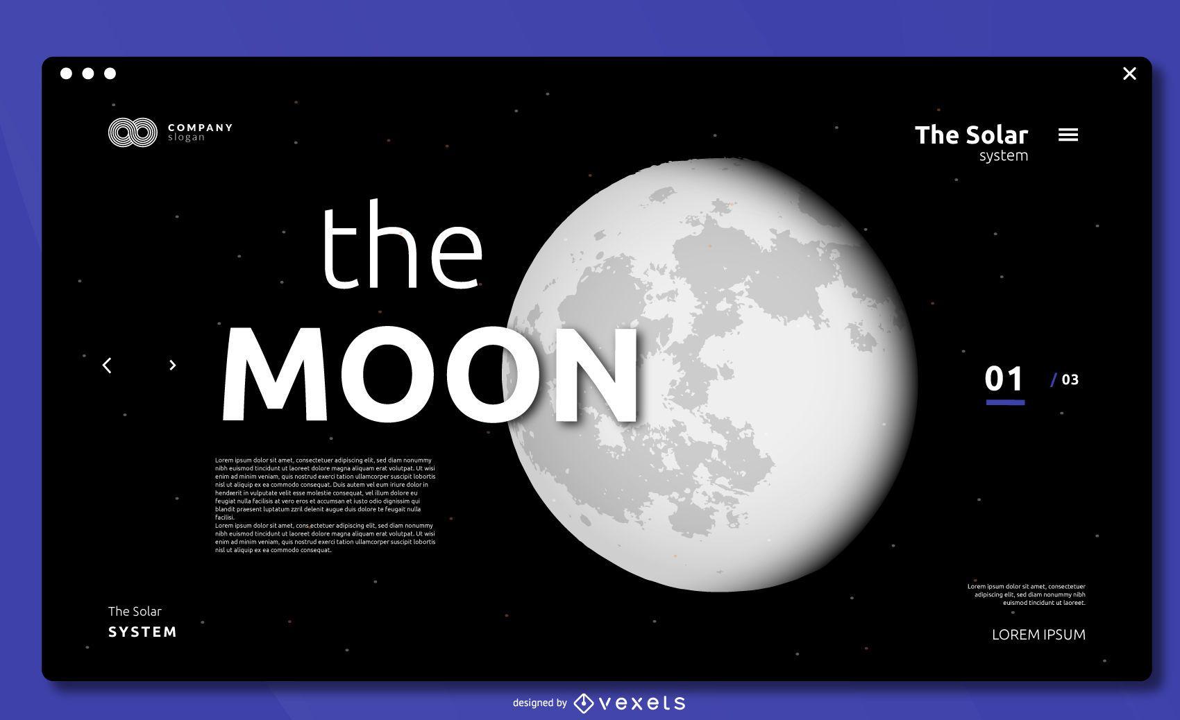 Design da capa da lua em tela cheia