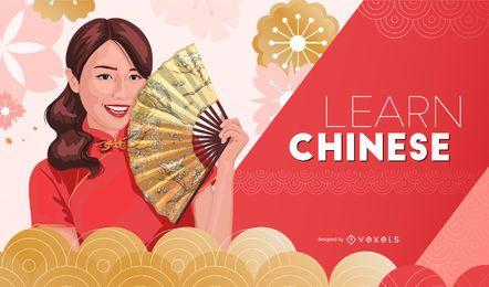 Lernen Sie chinesisches Cover Design
