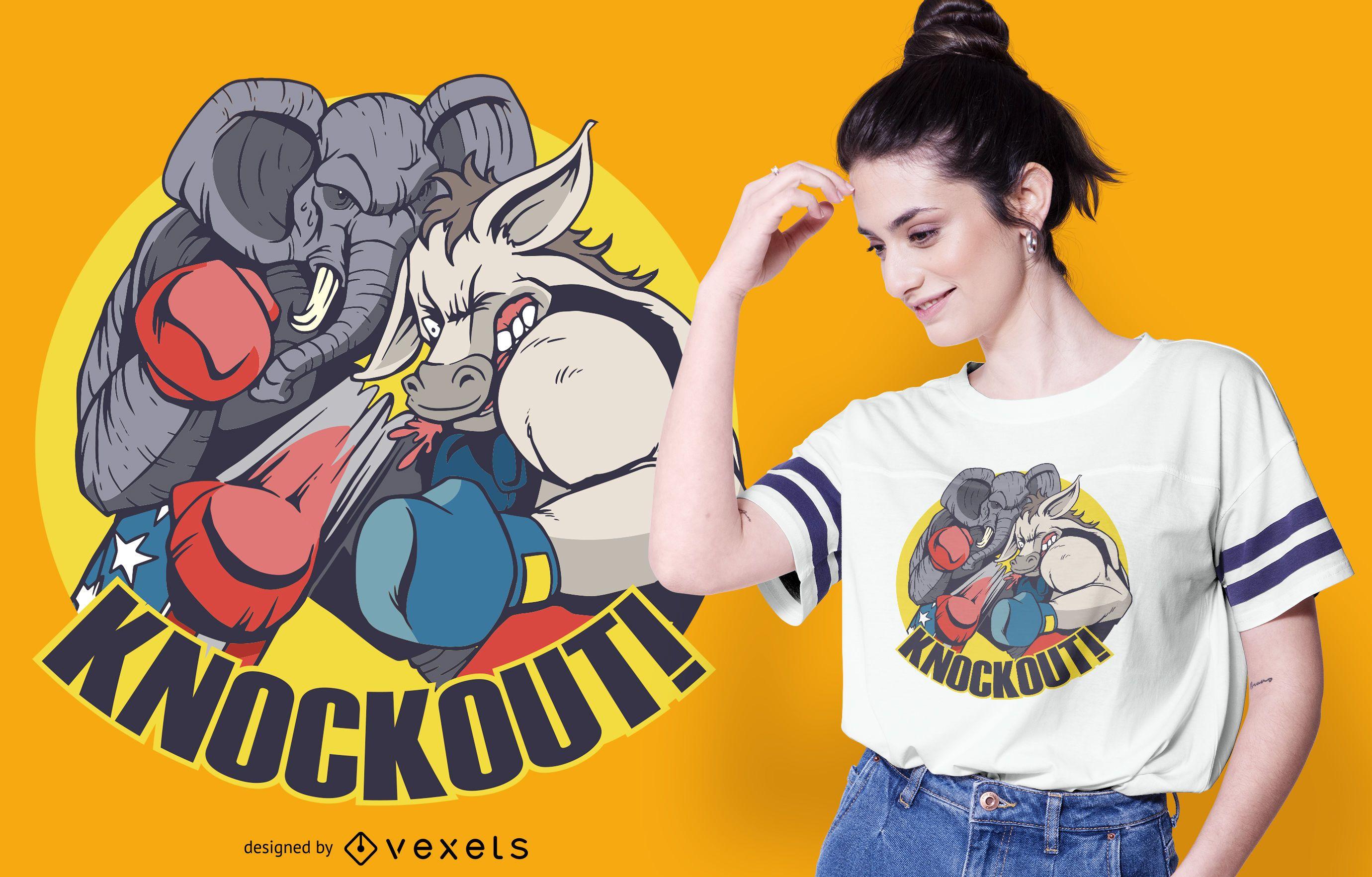 Republican Knockout T-shirt Design