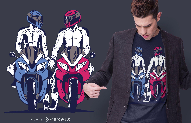 Design de camisetas para motociclistas