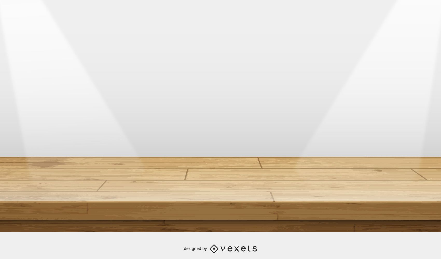 wooden stage illustration
