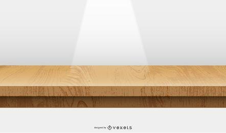 projeto de ilustração de palco de madeira