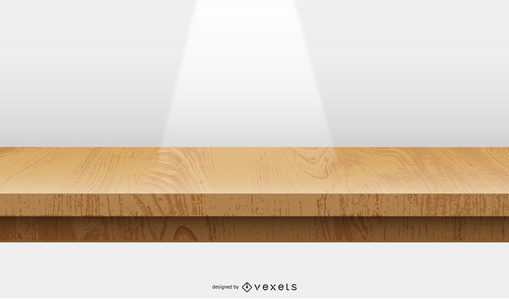 diseño de ilustración de escenario de madera