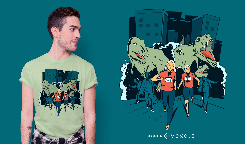 Dise?o de camiseta T-rex Runners