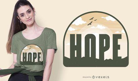 Diseño de camiseta Hope sky
