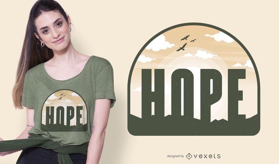 Hope sky t-shirt design