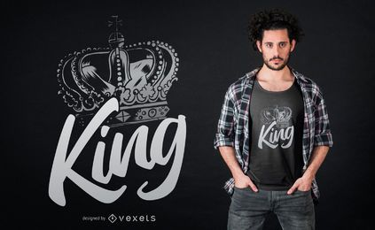 Crown king t-shirt design