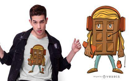 Design de t-shirt de jogador de chocolate