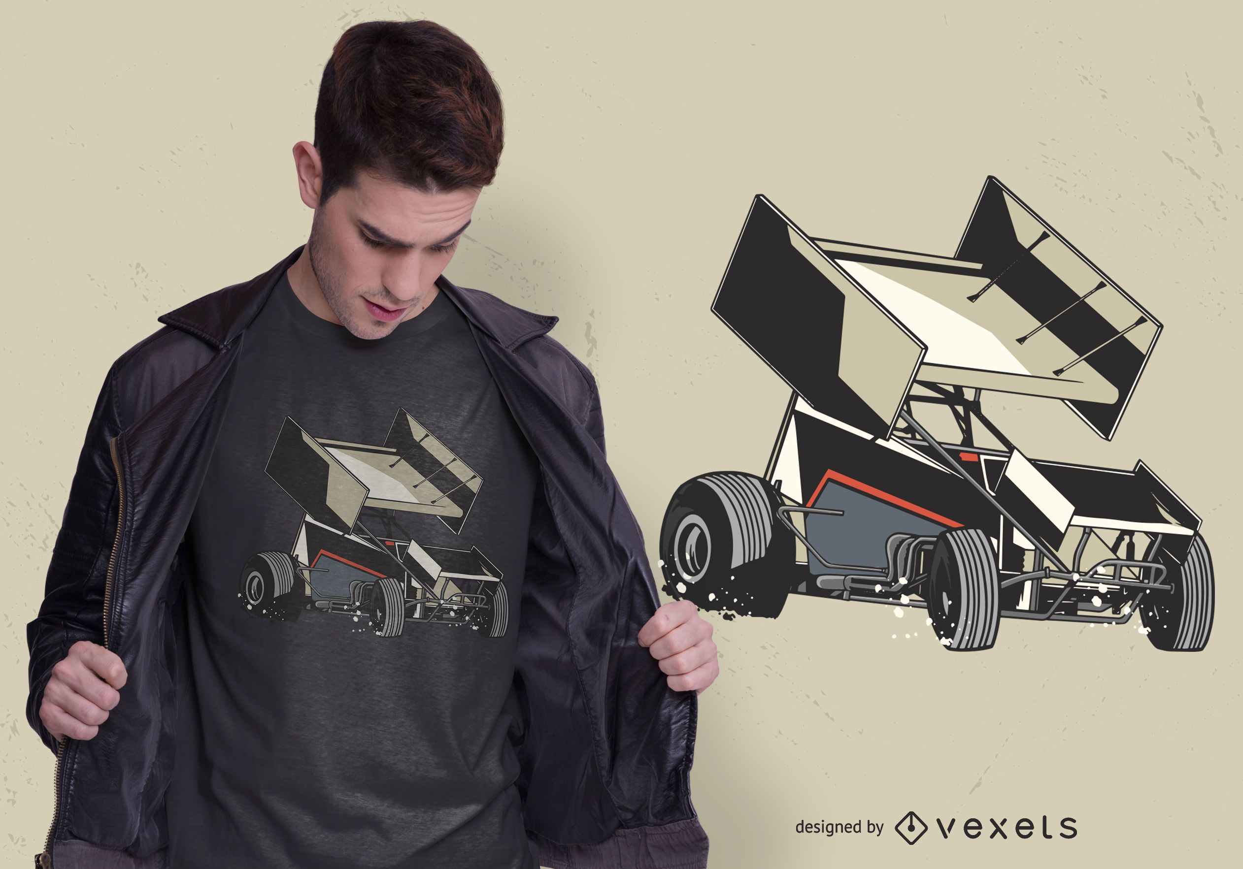 Sprint Car T-shirt Design